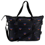 Multi HEART Puffer Tote Weekender Bag