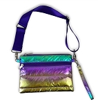 Metallic Puffer Waist Belt Bags MULTI