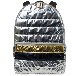 Silver and Gold Puffer Backpack