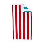 Reversible Beach Towel (Red/Turquoise)