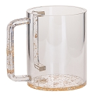 Lucite Wash Cup Gold Bottom