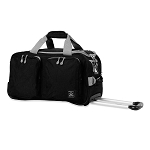 "DUANE ROLLING 21"" CARRY ON DUFFLE BAG (BLACK)"
