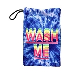 Blue Tye Dye Mesh Wash Me Sock Bag