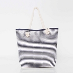 Knotted Rope Tote Camp Bag (Navy)