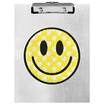 Checkered Smiley Face Clipboard Set