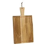 ACACIA WOOD HANDLED CUTTING BOARD