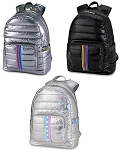 Puffer Metallic Full Size Backpacks