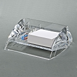 CLEARYLIC LUCITE  DESK CADDY WITH 3 COMPARTMENTS