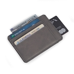 5 Slot Credit Card Holder in Grey Leatherette