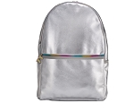 Silver Metallic Faux Leather Backpack