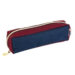 ELESAC Tray Style Pencil Case (Navy/Wine Red)