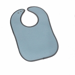 Leather Bib - Line Fabric (Light Blue)