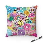 Good Vibes Square Autograph Pillows