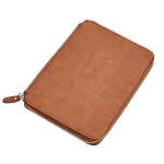 Leatherette Zippered Case Caramel 9
