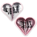 BFF Best Friend Reversible Sequin Pillow