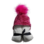 Pompom Hooded Towel (Fuschia)
