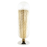 White Helix Fireplace Match Cloche