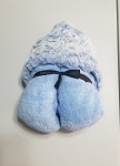Sky Blue Minky Hooded Towel