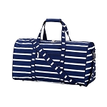 Navy Stripe Duffel Bag