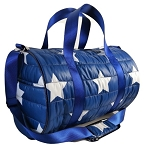 Navy with Star Puffer Duffel bag
