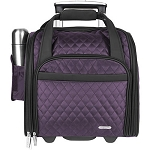 Travelon® Wheeled Underseat Carry-On with Back-Up Bag Eggplant