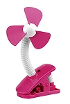 4 Inch Battery Operated Stroller Clip on Fan – Raspberry