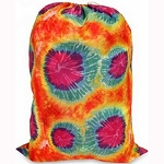 Orange Tie Dye Nylon Laundry Bag
