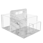 Marble Lucite Diaper Caddy