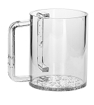 Lucite Wash Cup Silver Bottom