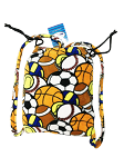 Fuzzie Sport Collage Blanket Backpack
