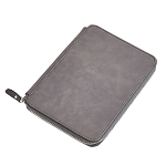 Leatherette Zippered Case Grey 9