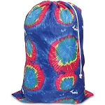 Blue Tie Dye Nylon Laundry Bag