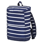 Navy Stripe Cooler Backpack