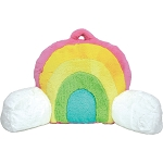 Rainbow Furry Lounge Back Pillow