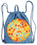 Denim Cookie Drawstring Sling Camp Bag