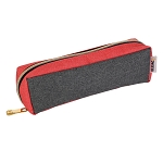 ELESAC Tray Style Pencil Case (Dark Gray/Coral)