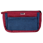 ELESAC Multi Pocket Pencil Case (Navy/Wine Red)