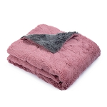 MICO MAUVE GREY FAUX FUR BLANKET