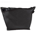 Black Chevron Quilted Metallic Weekender Bag
