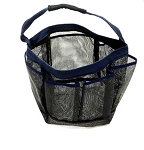 Blue Trim Mesh Shower Caddy