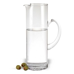 "Celebrate Crystal Glass Pitcher 9.75"" 48 oz. - INCLUDES ENGRAVING"