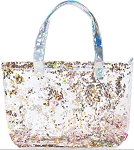 BORN TO SPARKLE LARGE CONFETTI TOTE