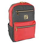 ELESAC 16.5 inch Backpack (Dark Gray/Coral)