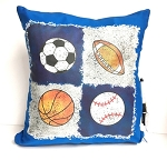 Quad Sports Autograph Pillow