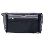 ELESAC Multi Pocket Pencil Case (Black/ Black white stripe)