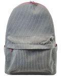 Gray Corduroy Backpack
