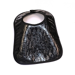 Leather Bib - Patent Leather (Black)