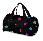 Multi Glitter Star Puffer Duffel Bag
