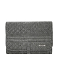 Boho Trifold Hanging Toiletry Kit (Gray)