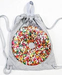 Puffy Jersey Donut Drawstring Sling Camp Bag